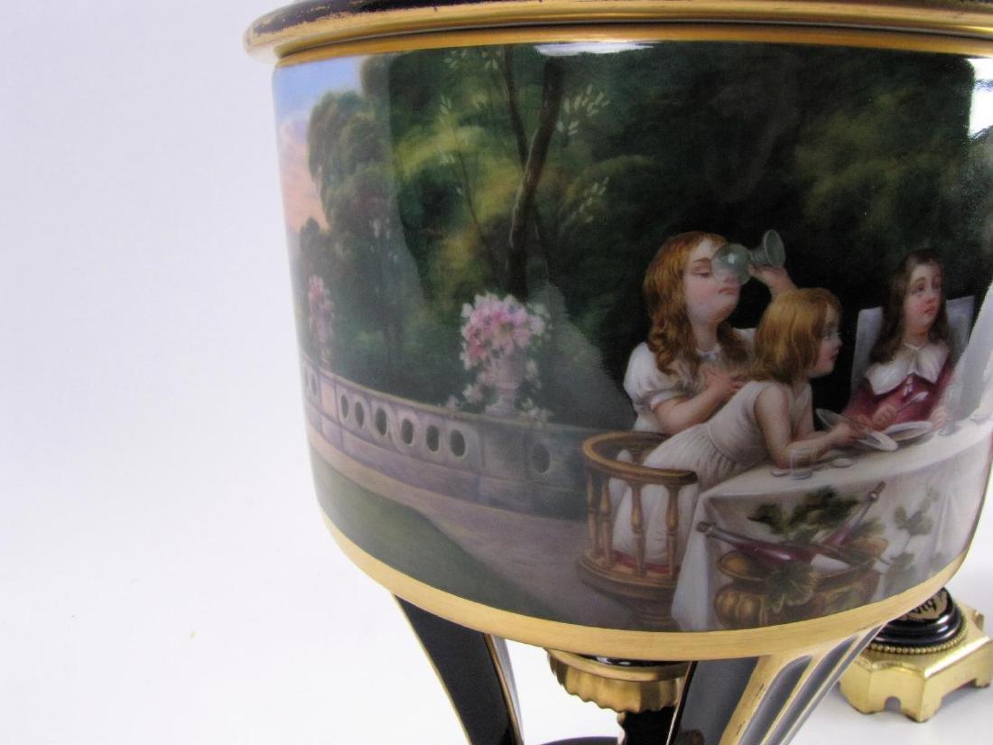 Dresden Cobalt Porcelain Fruit Cooler - 3