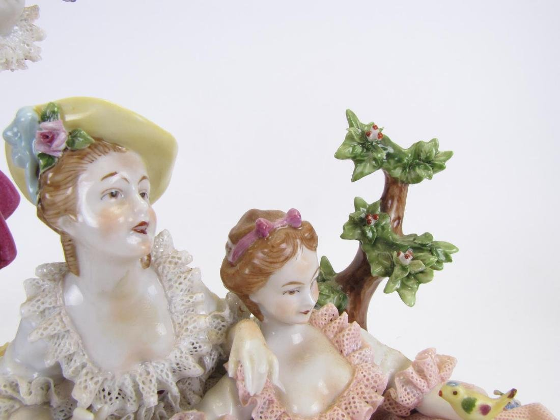 Two Unter Weiss Bach Porcelain Figural Groupings - 2