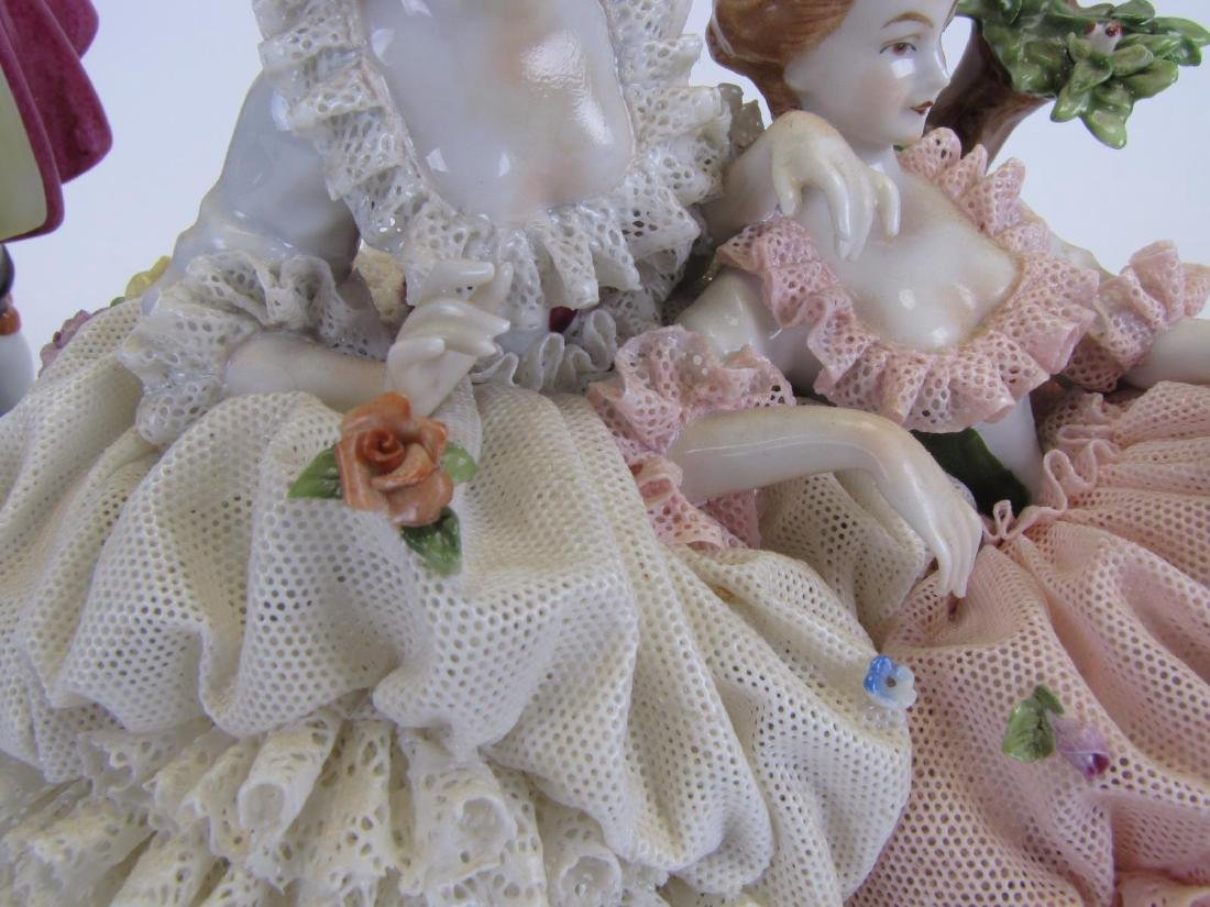 Two Unter Weiss Bach Porcelain Figural Groupings - 7