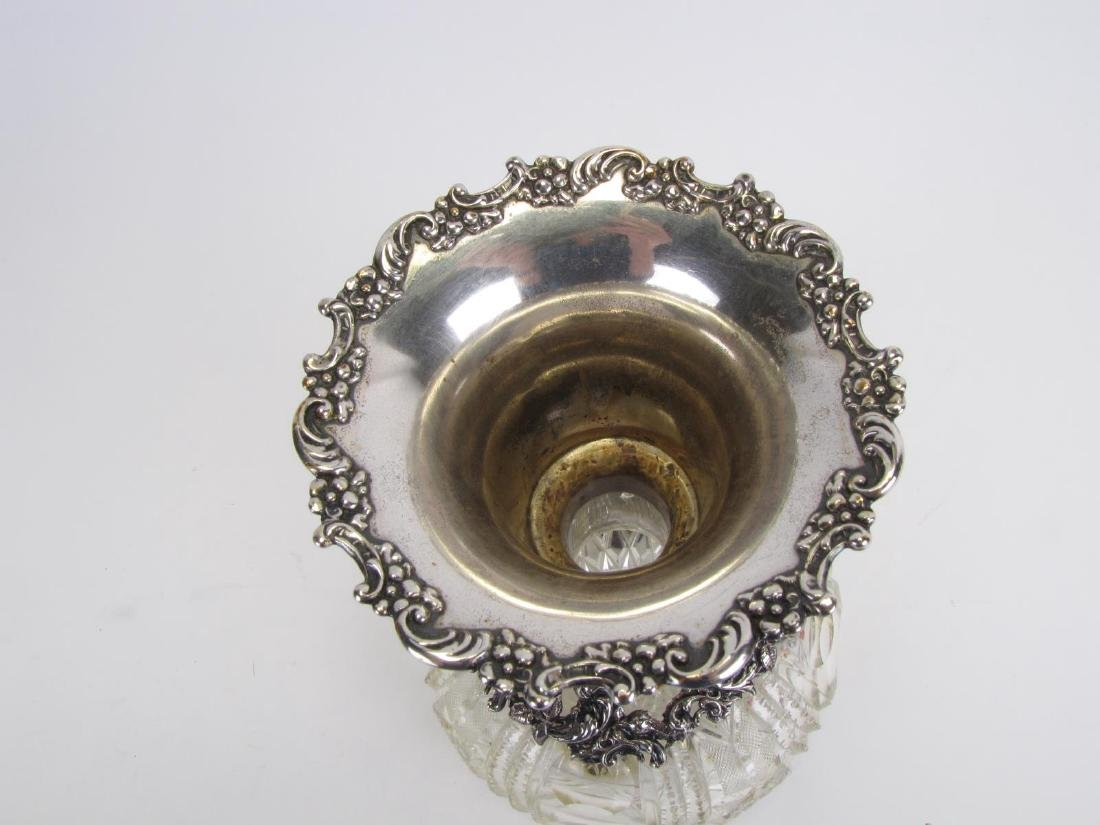 Cut Glass and Sterling Vase - 2
