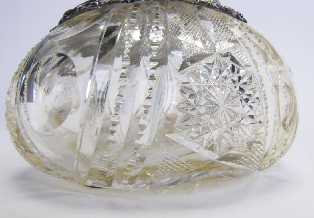 Cut Glass and Sterling Vase - 4