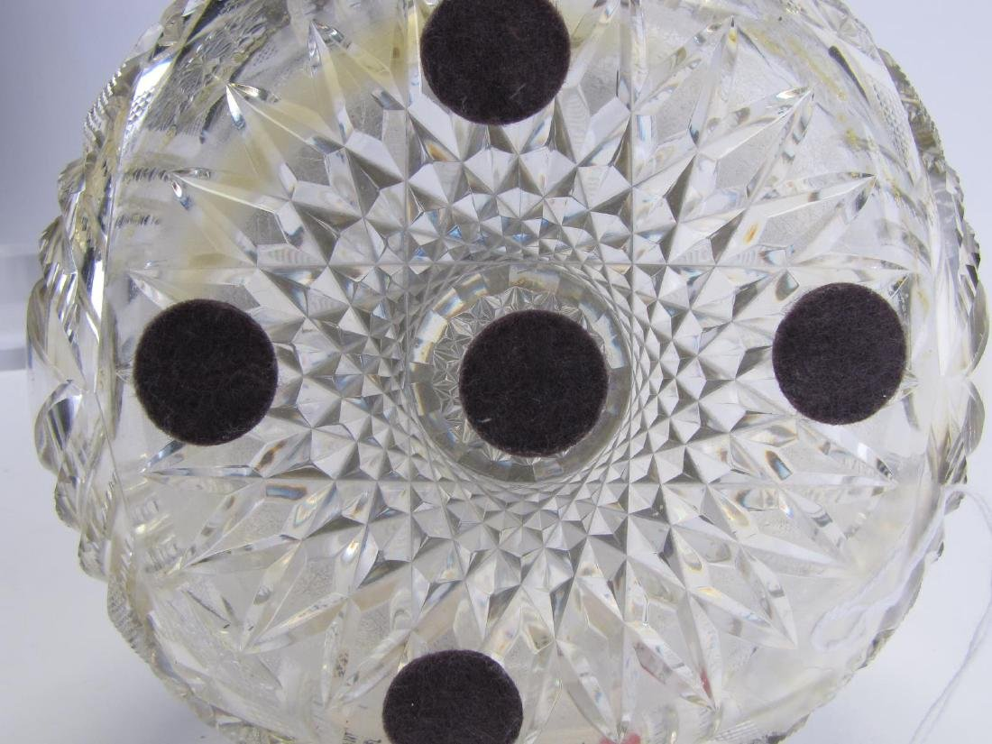 Cut Glass and Sterling Vase - 5