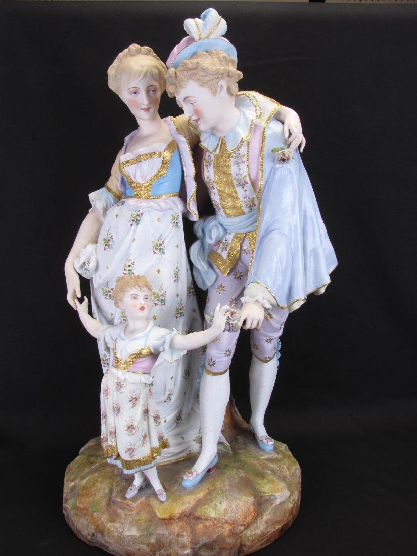 French Bisque Porcelain Figural Grouping
