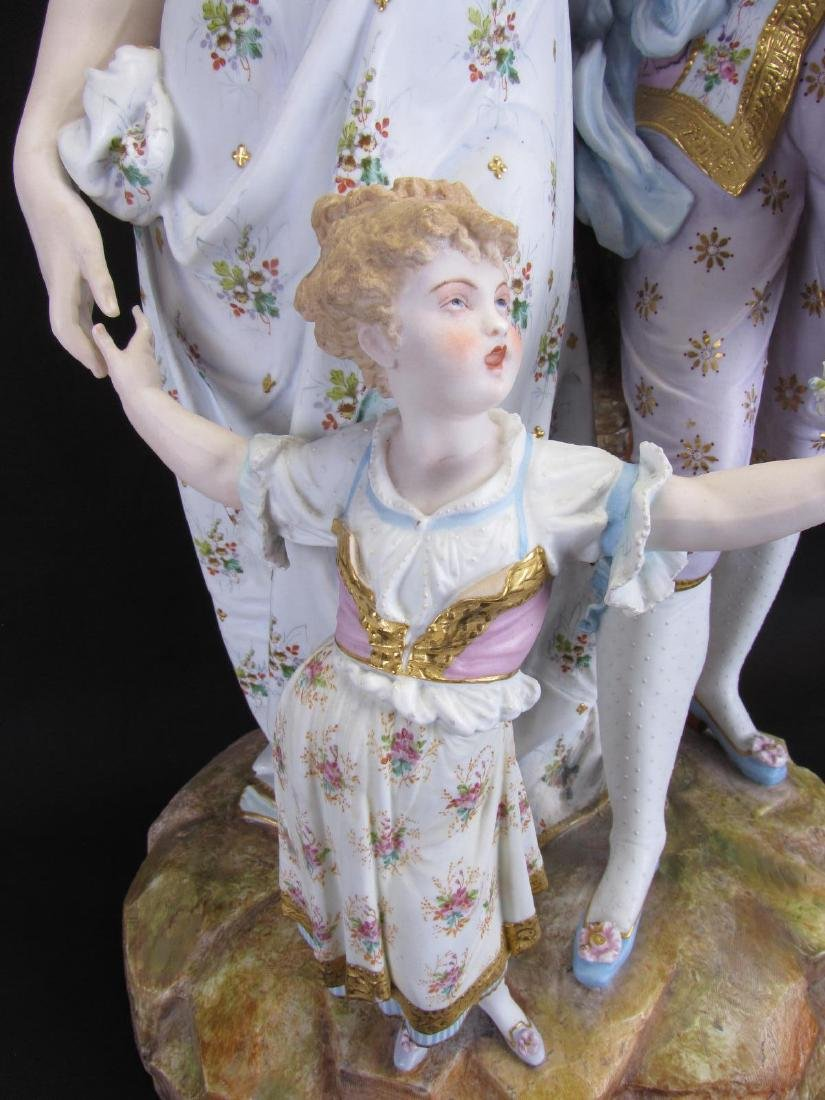 French Bisque Porcelain Figural Grouping - 5