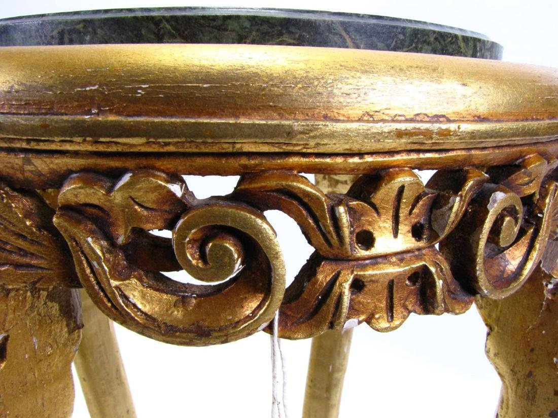 Pair of Gilded Wood Plant Stands - 3