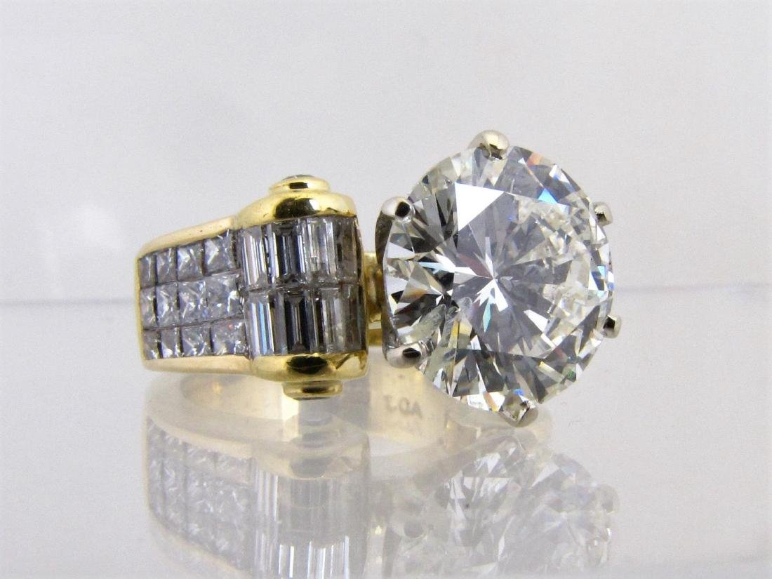 FEATURED: 18K Yellow Gold Diamond Ring, 7.5CT+
