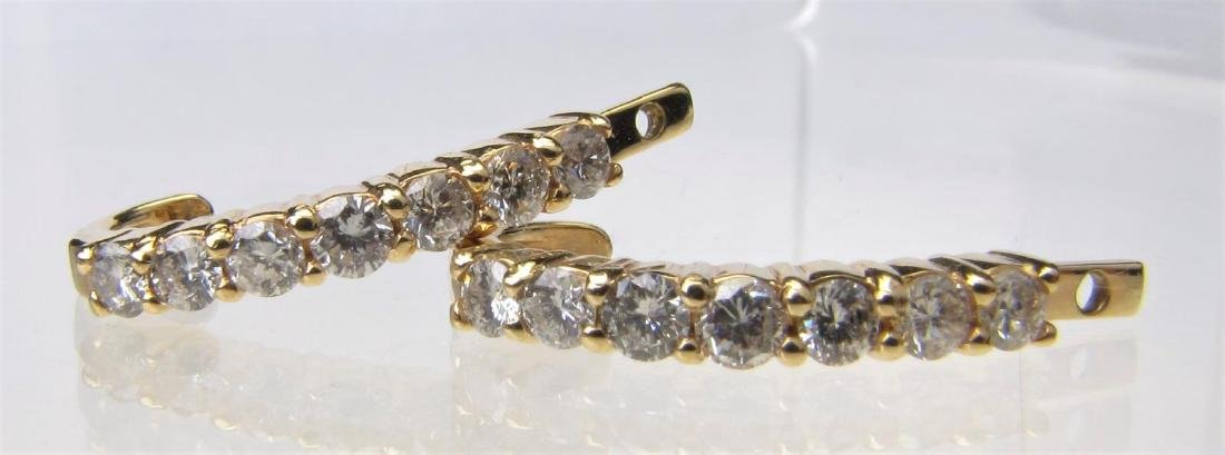 14K Yellow Gold Diamond Earring Jackets
