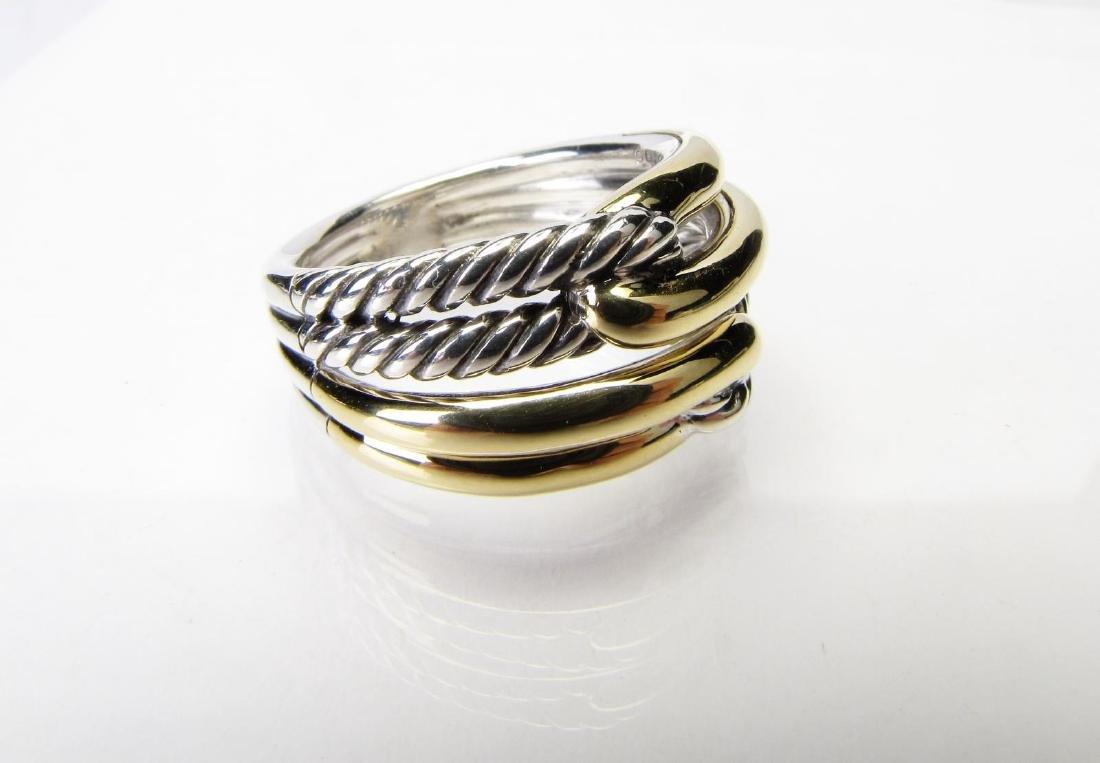 David Yurman Labyrinth Ring, 18K, Sterling