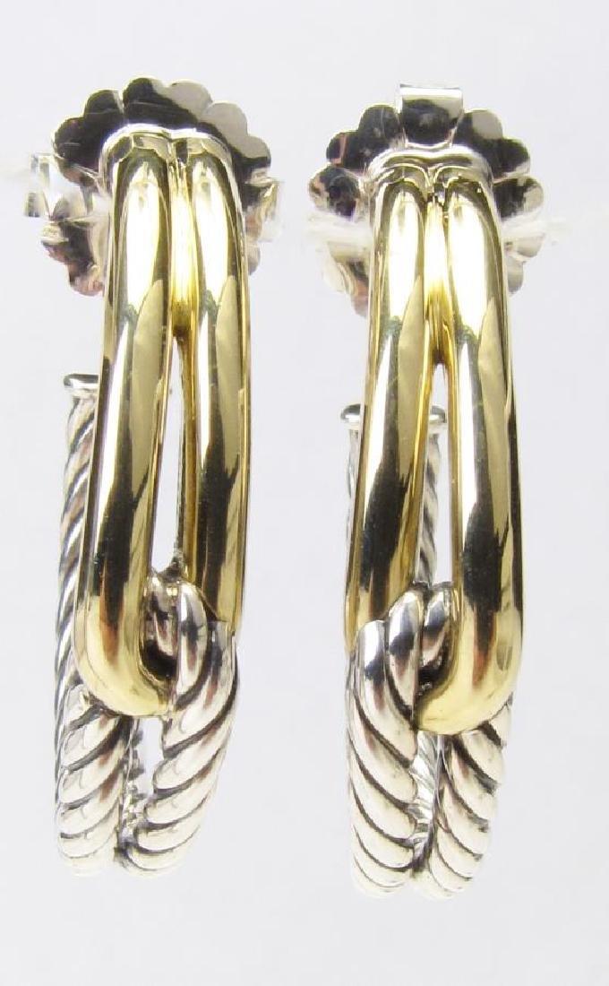 David Yurman Labyrinth Earrings, 18K, Sterling