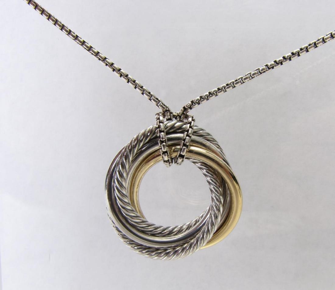 David Yurman Crossover Circle Necklace