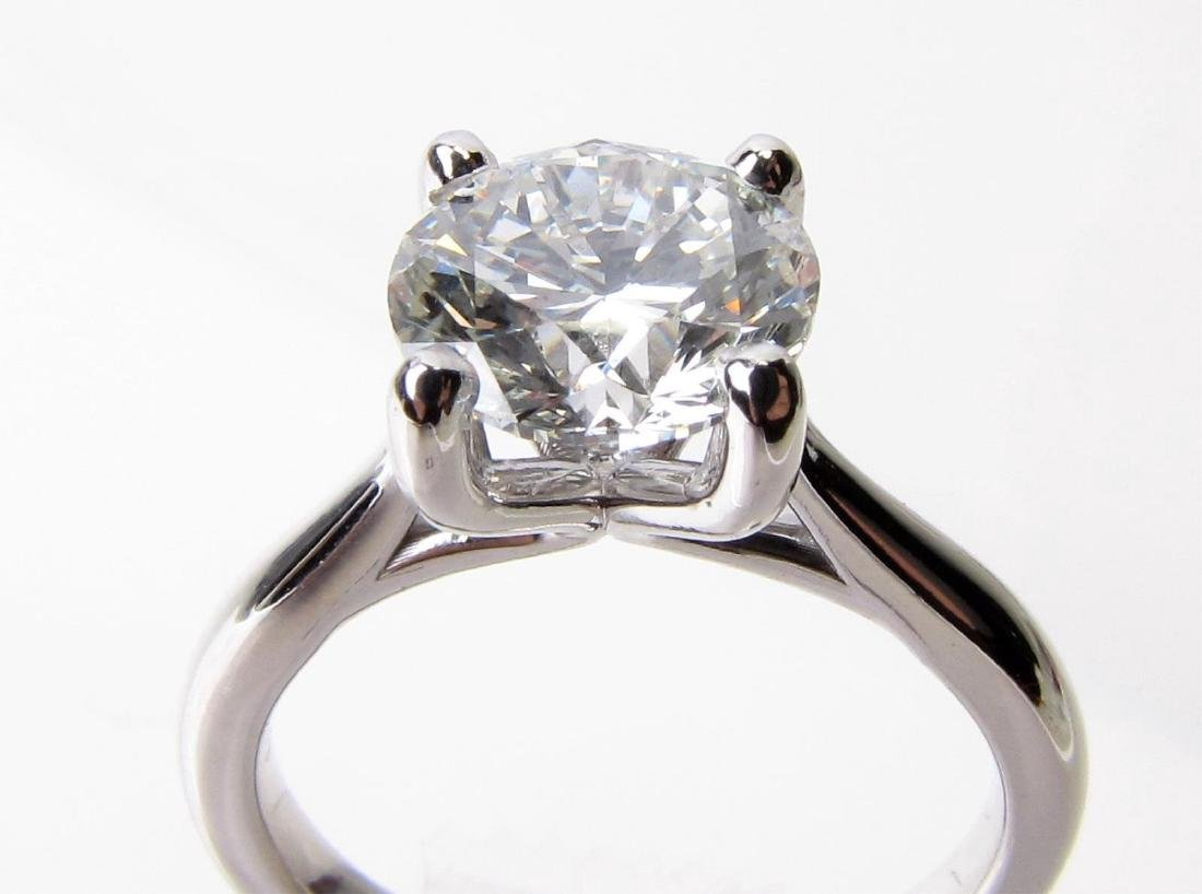 14K White Gold 2CT Diamond Solitaire Ring