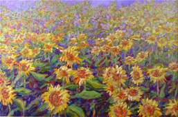 Patricia Rhoden Bartels 24x36 O/C Sunflowers