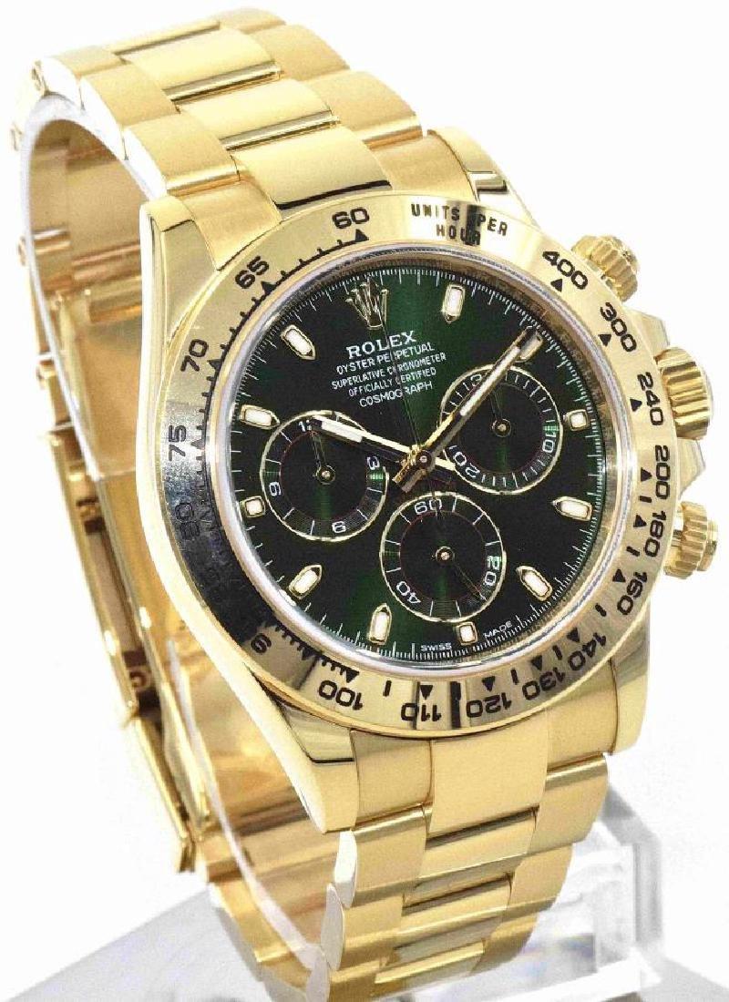 Rolex Daytona Green Dial in 18K YG