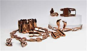 Collection of Vintage Renoir Copper Jewelry