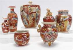 Group of Oriental Enameled Pottery