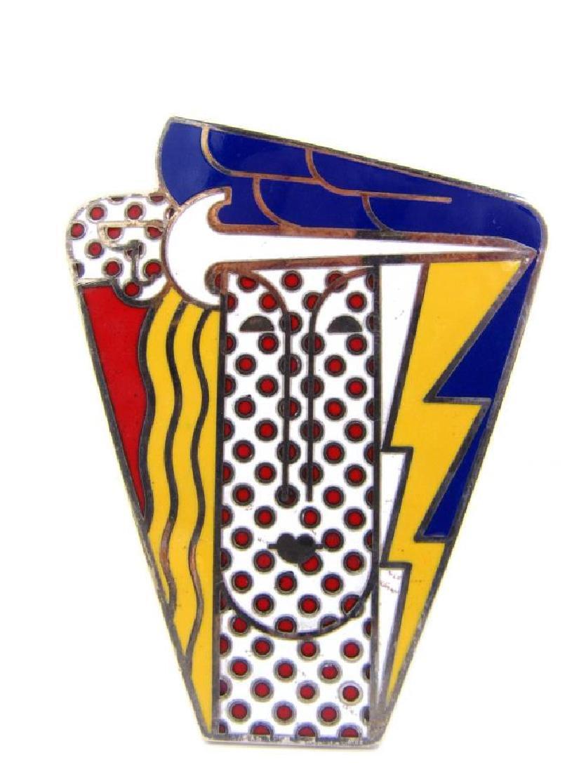 """Lichtenstein """"Modern Head"""" Brooch"""