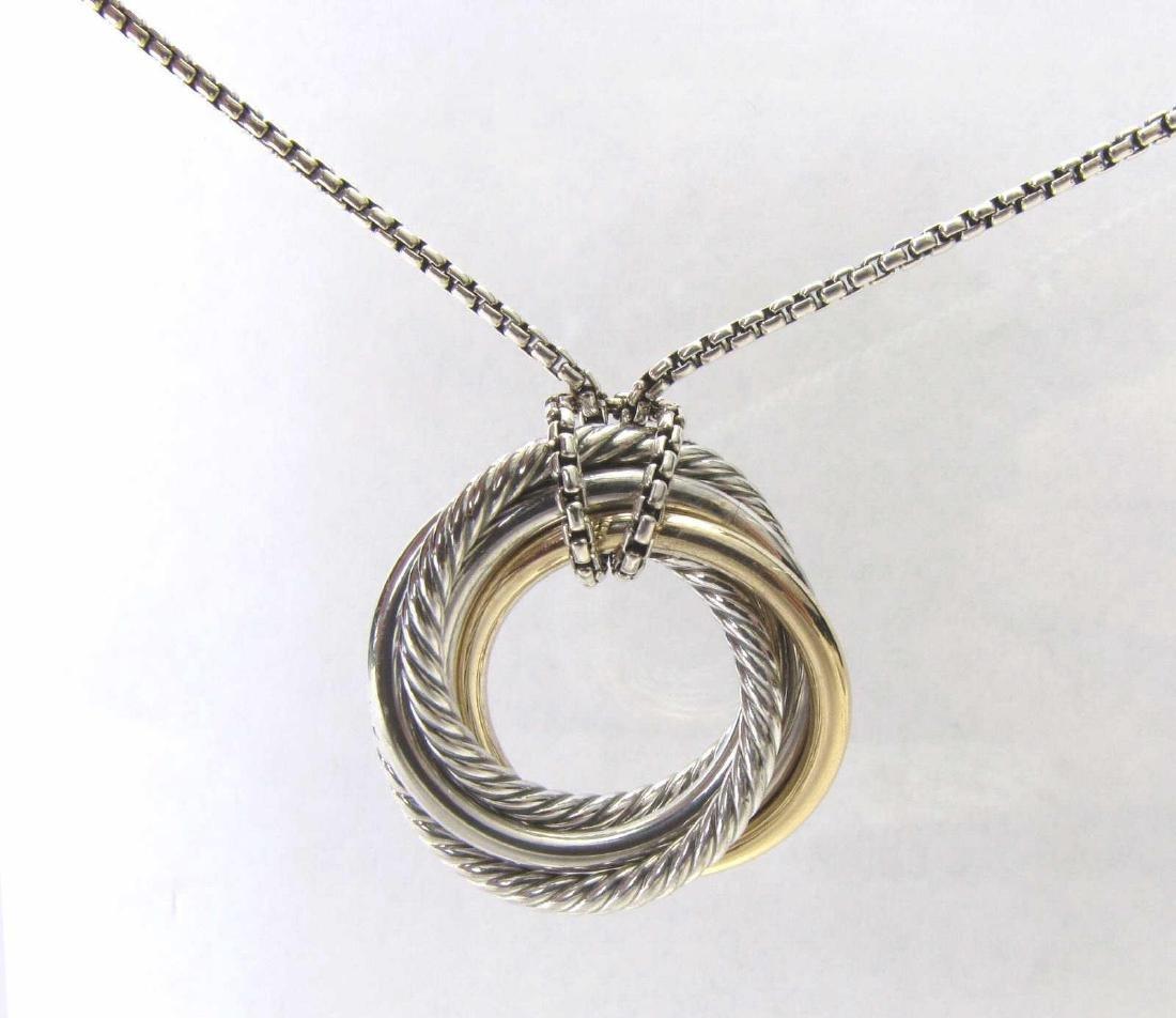 David Yurman Crossover Necklace, Sterling, 18K