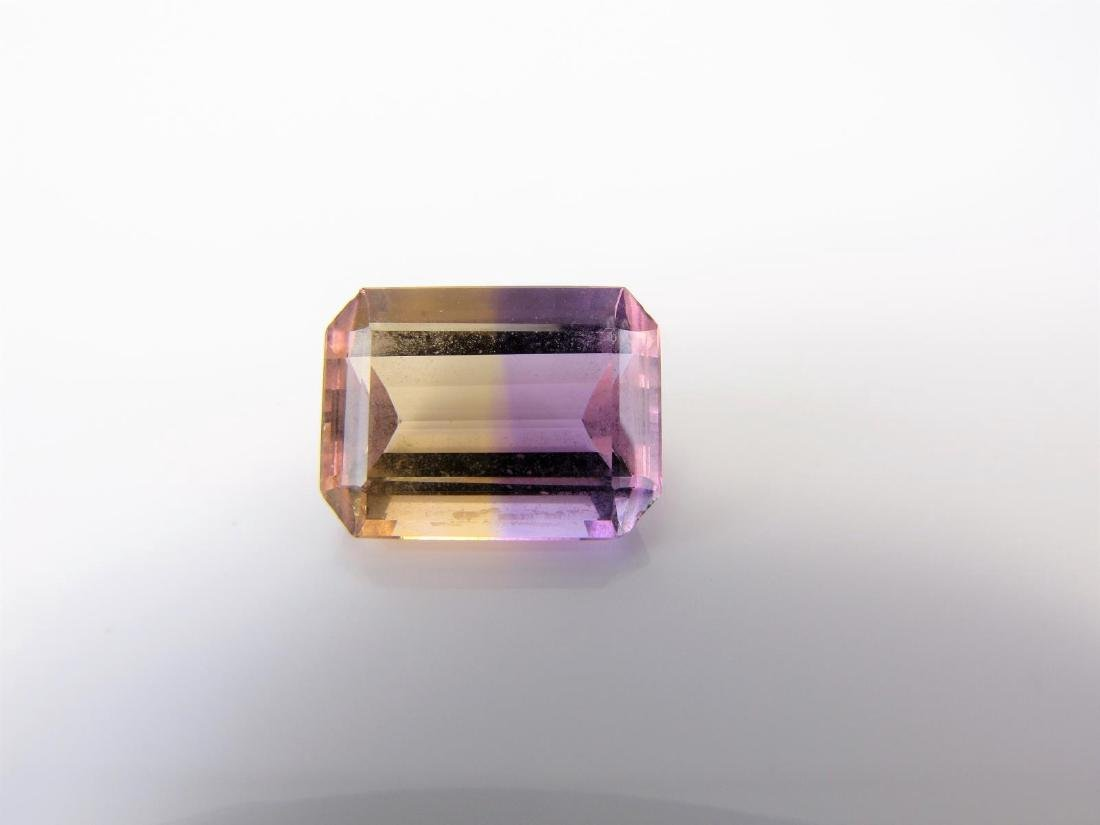 10.87CT Ametrine Emerald Cut Loose Stone