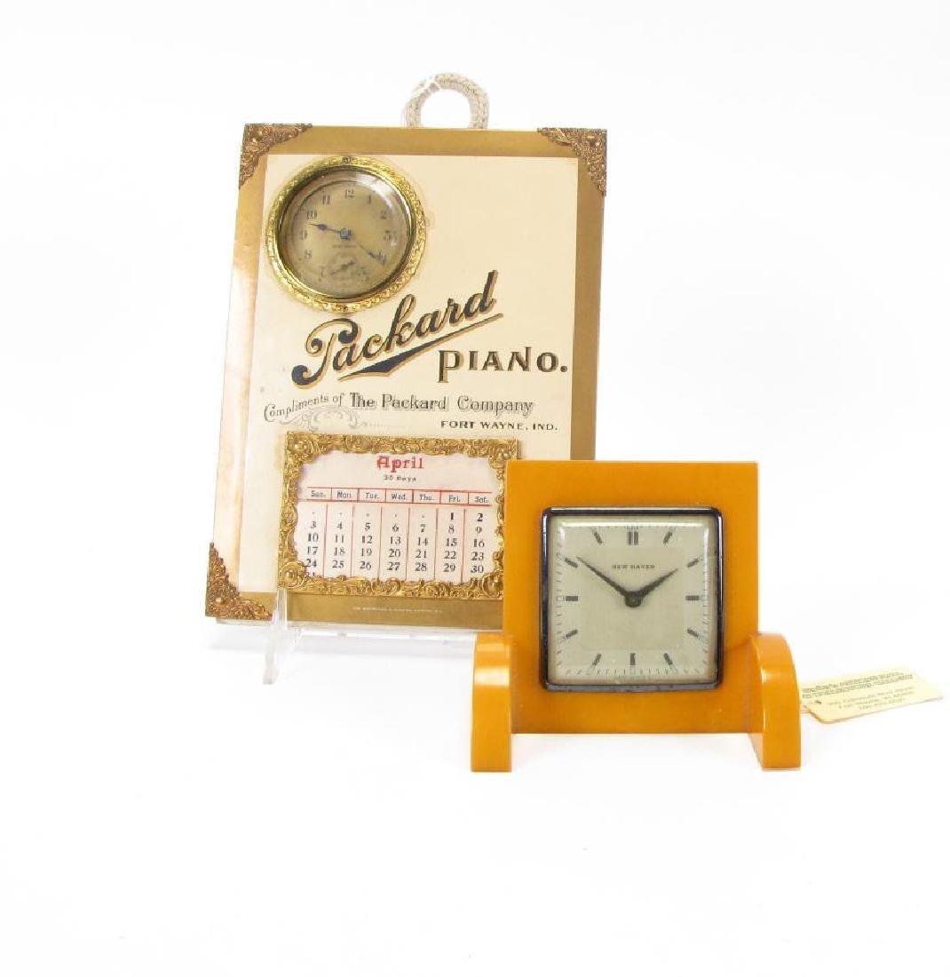 Two Vintage Clocks, Bakelite
