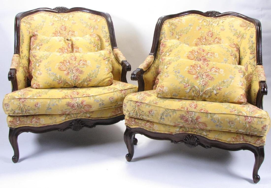 Pair of French Bergeres, Lillian August