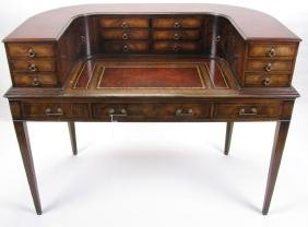 Traditional Style Horseshoe Writing Desk