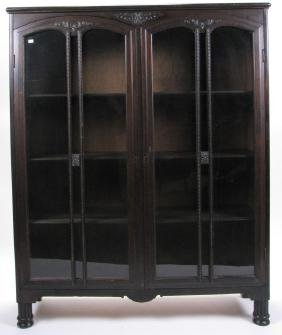 Vintage Glass Door Bookcase