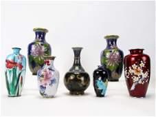 Group of Oriental Cloisonne Vases