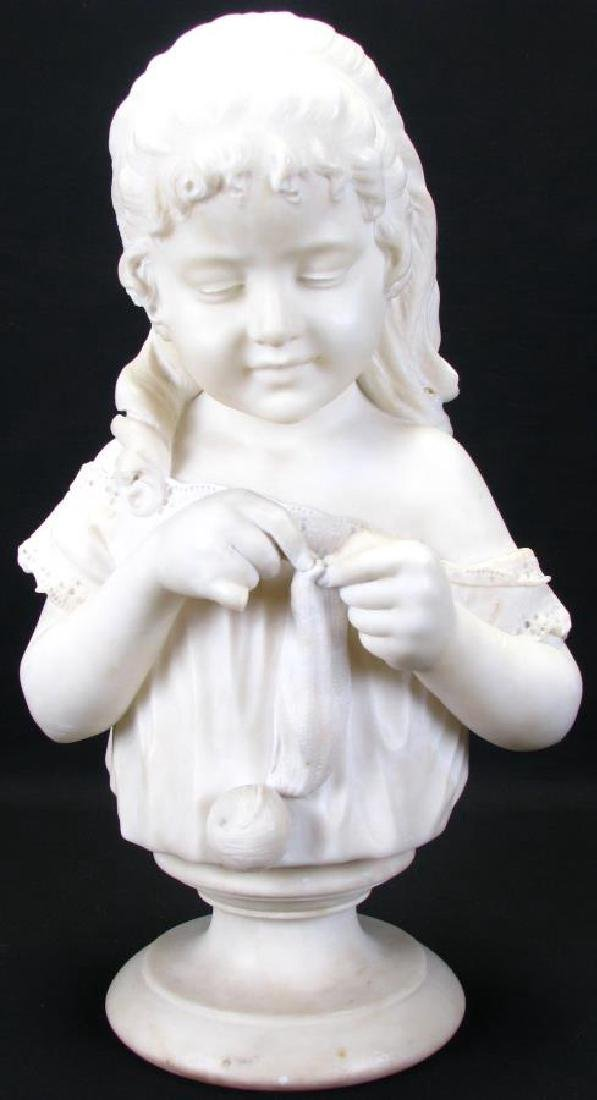 Alabaster Bust After Cesare Lapini