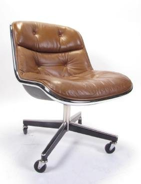 Knoll Pollock Mid-century Leather Office Chair