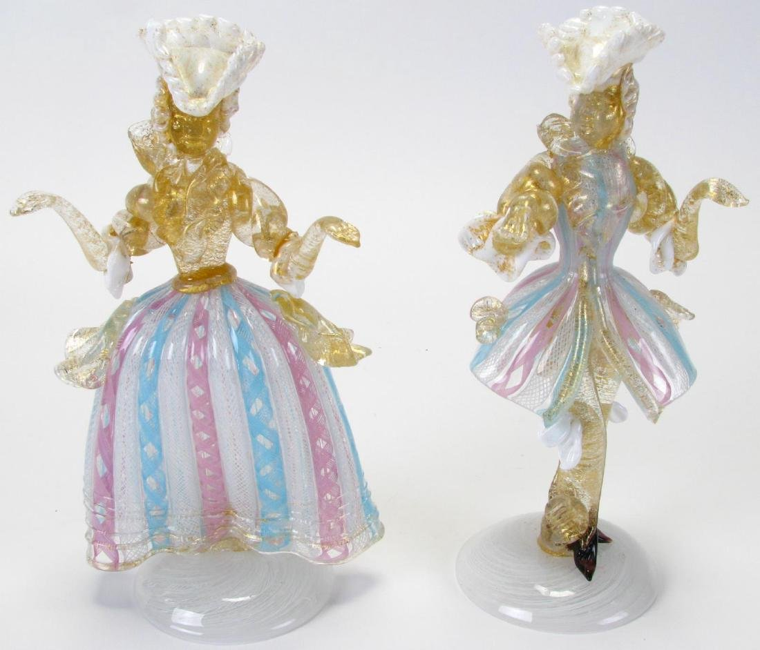 Two Murano Glass Figures