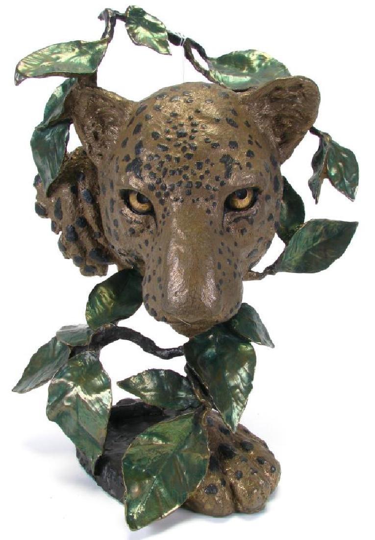 Mark Hopkins Bronze Leopard Sculpture