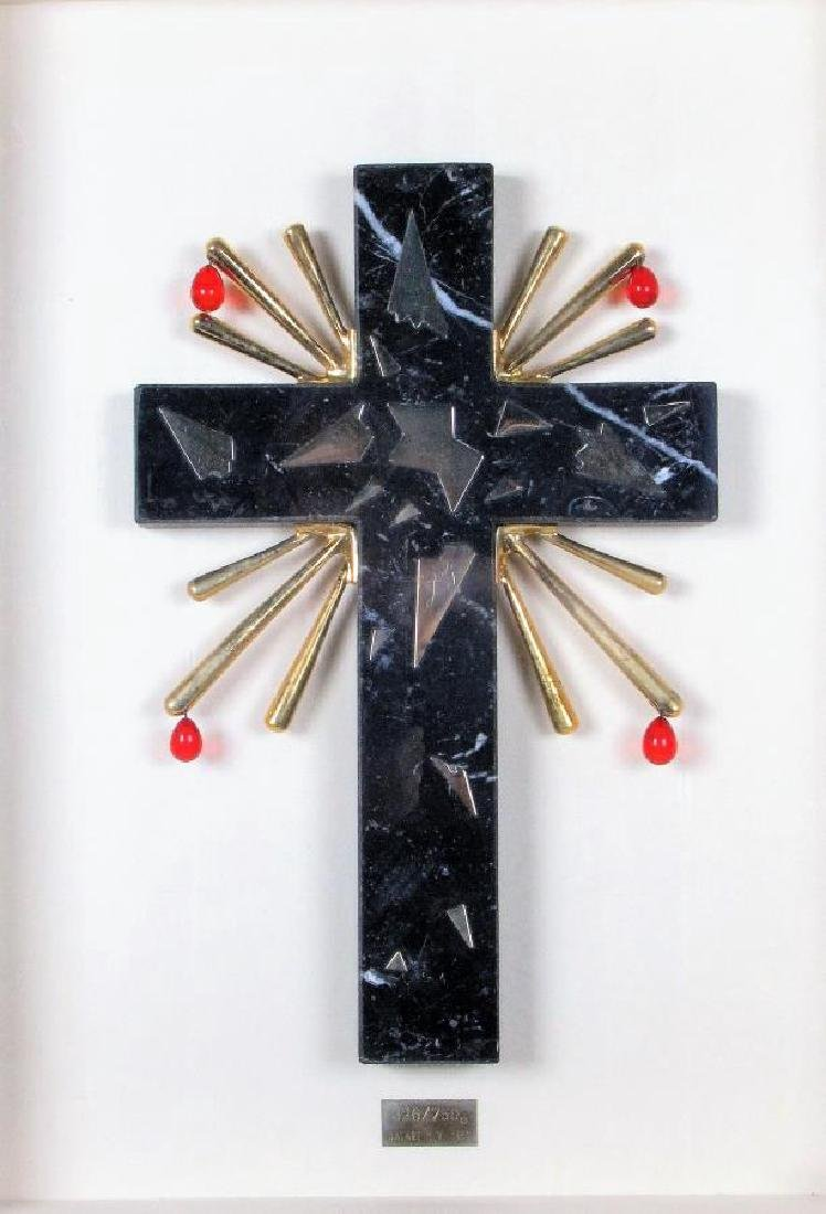 Salvador Dali, Dalart Marble Cross Sculpture