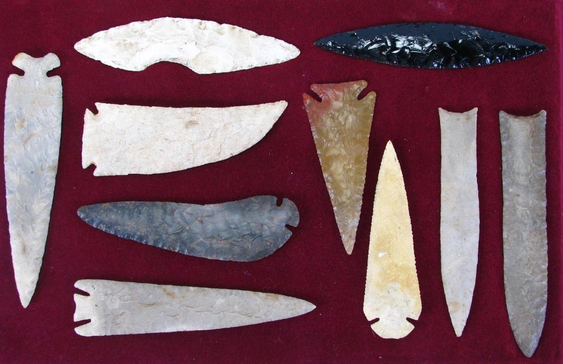 Collection of Native American Blades and Points
