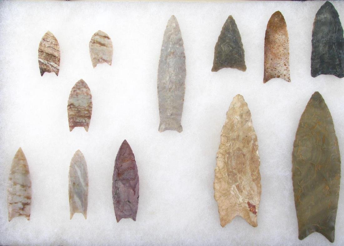 Collection of Native American Clovis Points