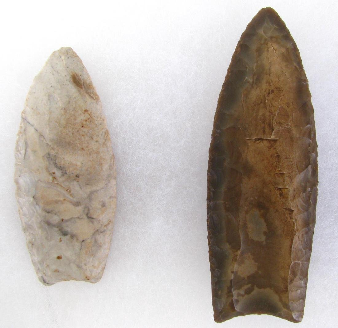 Two Native American Kentucky Clovis Points