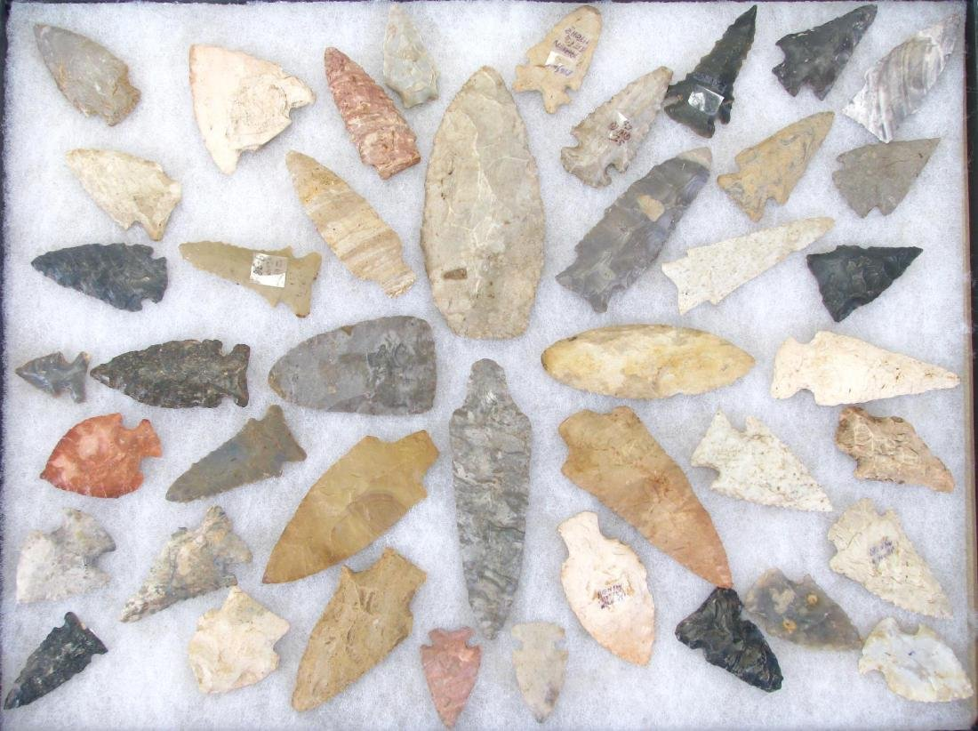 Collection of Native American Arrowheads, Points