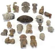 Collection of Pre-Columbian Clay Effigies