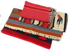 Group of Hand Woven Rugs