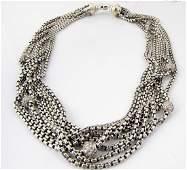 D Yurman Sterling18K 8Strand Diamond Necklace