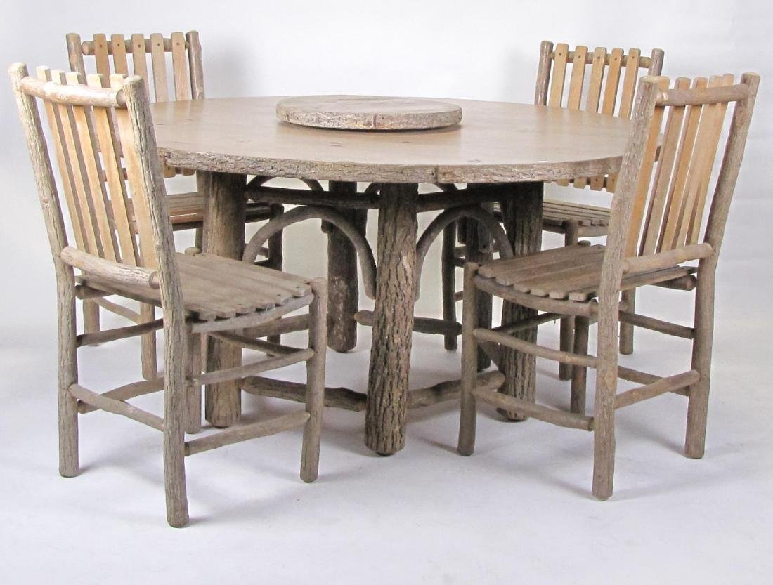 Old Hickory Dining Table and Chairs