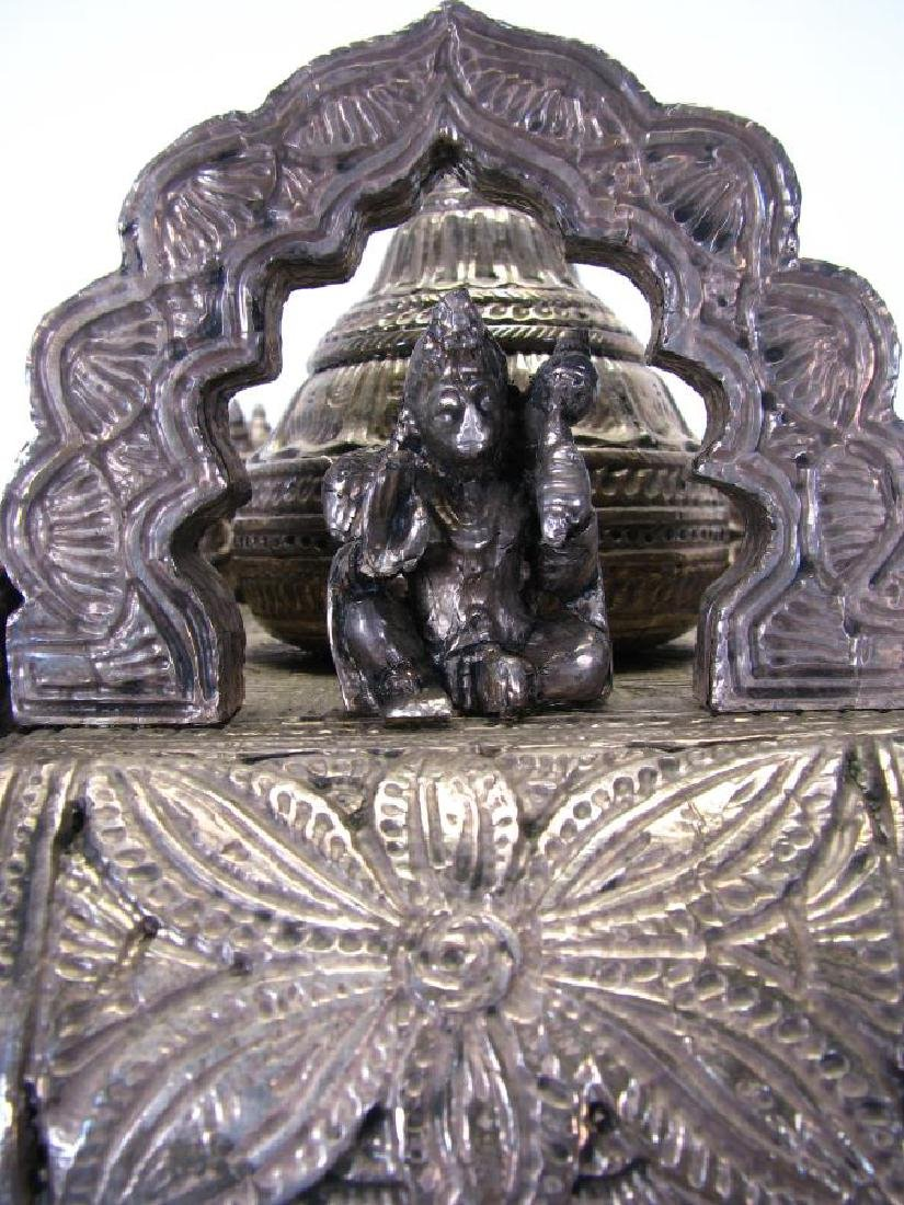 Hindu Silver Clad Wooden Arjuna and Carriage - 6