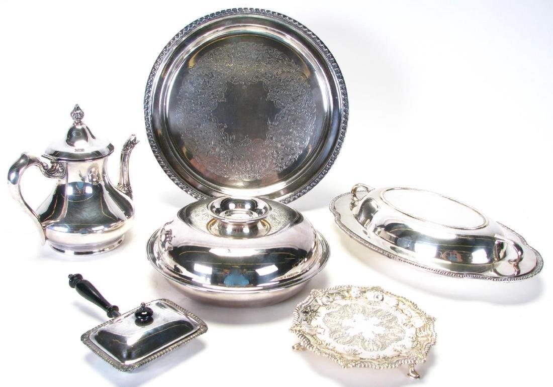 Group of Silverplate Tableware