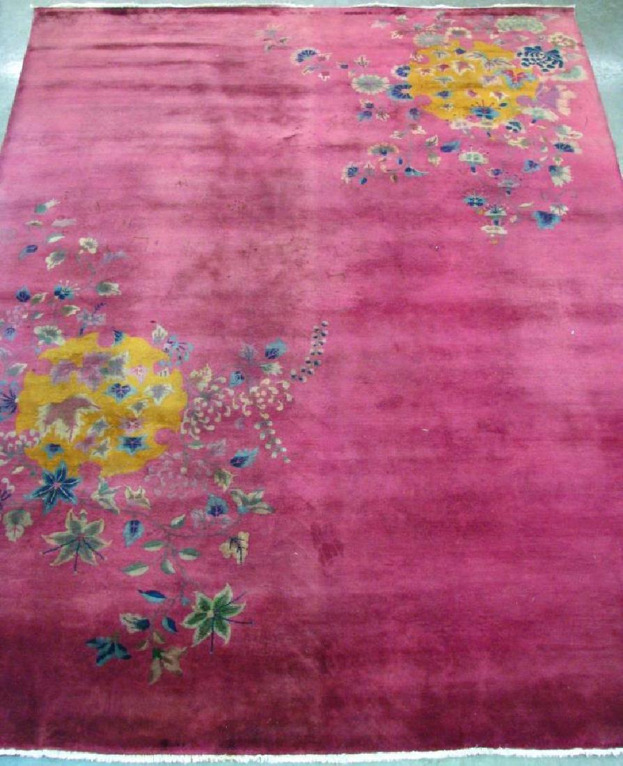 Antique Tientsin Chinese Nichols Room Size Rug