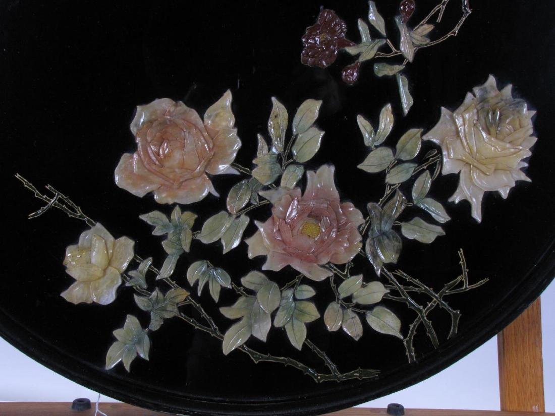 Oriental Black Lacquer Wall Hanging - 2