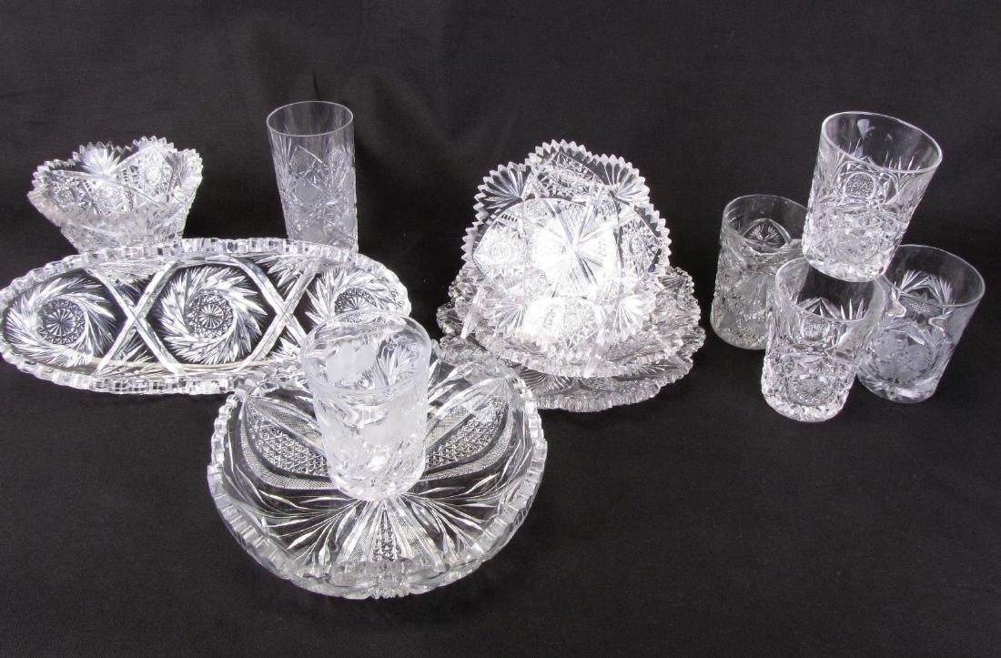 Group of Fine Cut Glass Tableware
