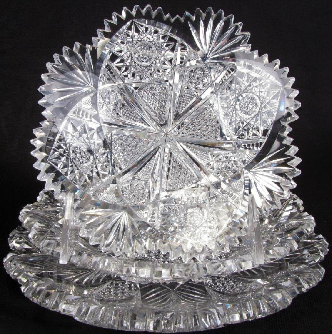 Group of Fine Cut Glass Tableware - 3