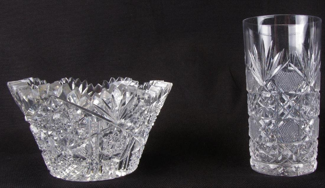 Group of Fine Cut Glass Tableware - 4