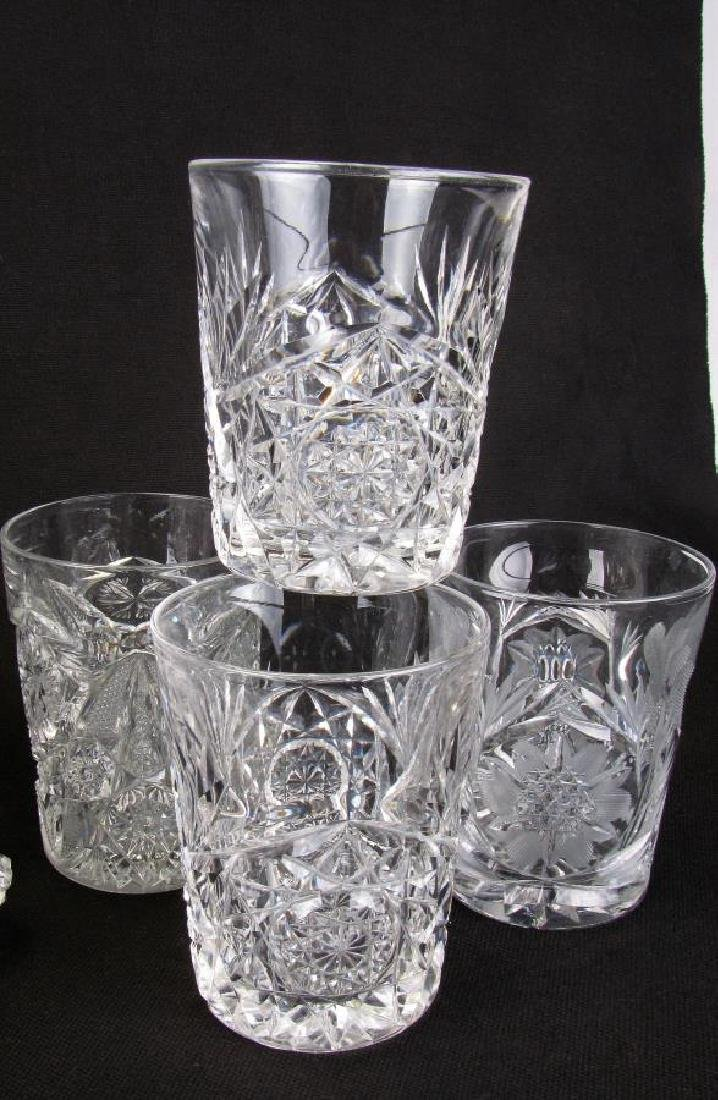 Group of Fine Cut Glass Tableware - 5
