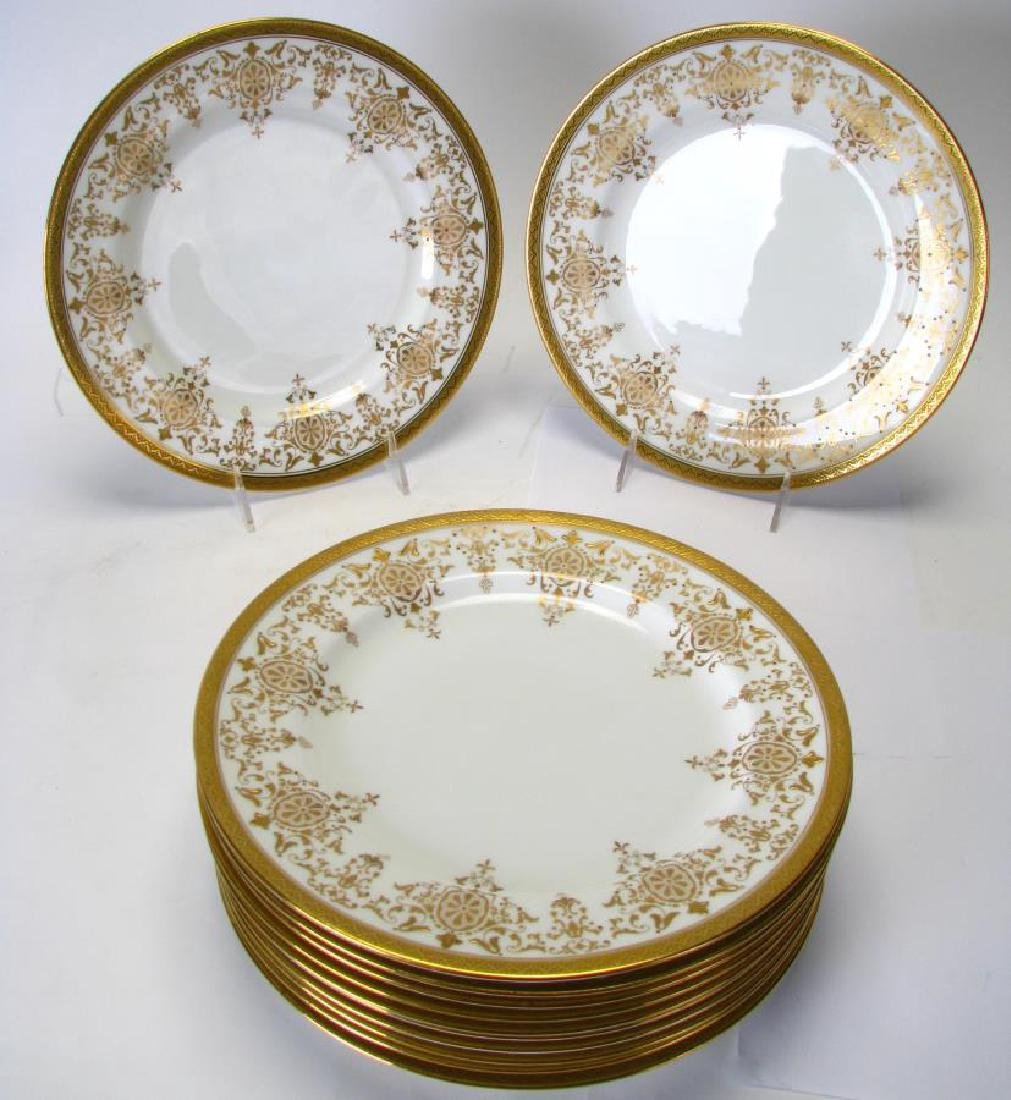 Set of 12 Royal Doulton Gold Encrusted Plates