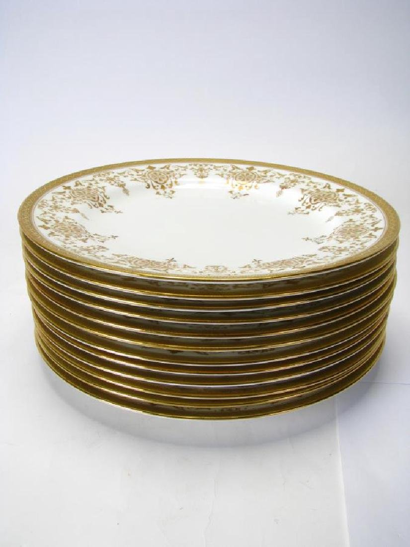 Set of 12 Royal Doulton Gold Encrusted Plates - 2